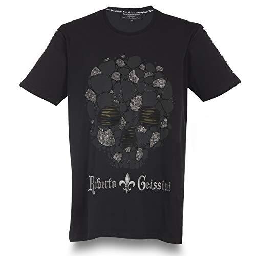 T-Shirt Stone Skull Men Black XL
