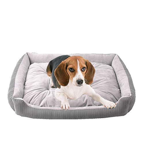 Hundebett für Welpen, geeignet für große, mittelgroße und kleine Hunde, Katzen, Chihuahuas, Teddy, Pudel, Golden Retriever, waschbare Hunderassen, warm, rechteckig, rutschfest, wasserdichte Unterseite