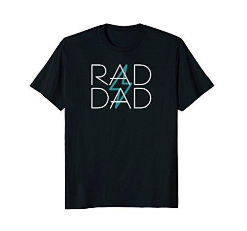 Mens RAD DAD Standard T Shirt Lightning Bolt Strike 80's Retro