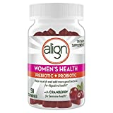 6. Align Women's Prebiotics + Probiotics Supplement Gummies, 50 Count, Digestive Health with Cranberry for Feminine Health