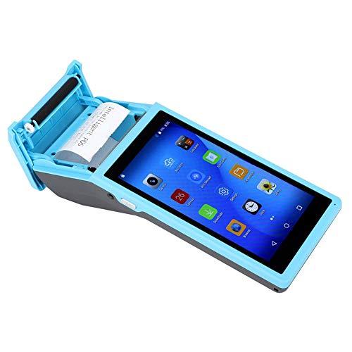 Tosuny 58-mm-Bluetooth-Drucker, tragbarer 3G-WiFi-POS-Terminal-Vierkern-Thermodrucker mit 5,5-Zoll-IPS-Display, QR-Barcode-Leser-POS-Drucker für Android-/IOS-Smartphones, 1 + 4G, Blau(EU)
