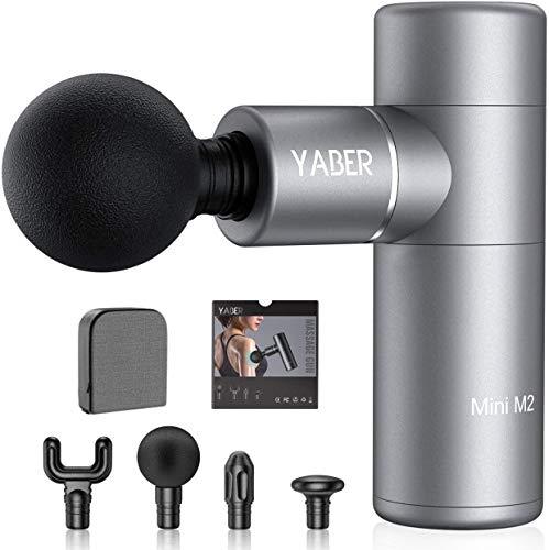 Yaber M2 - Pistola de masaje muscular profesional, gun para músculos, 3800 rpm, con 4 cabezales de masaje