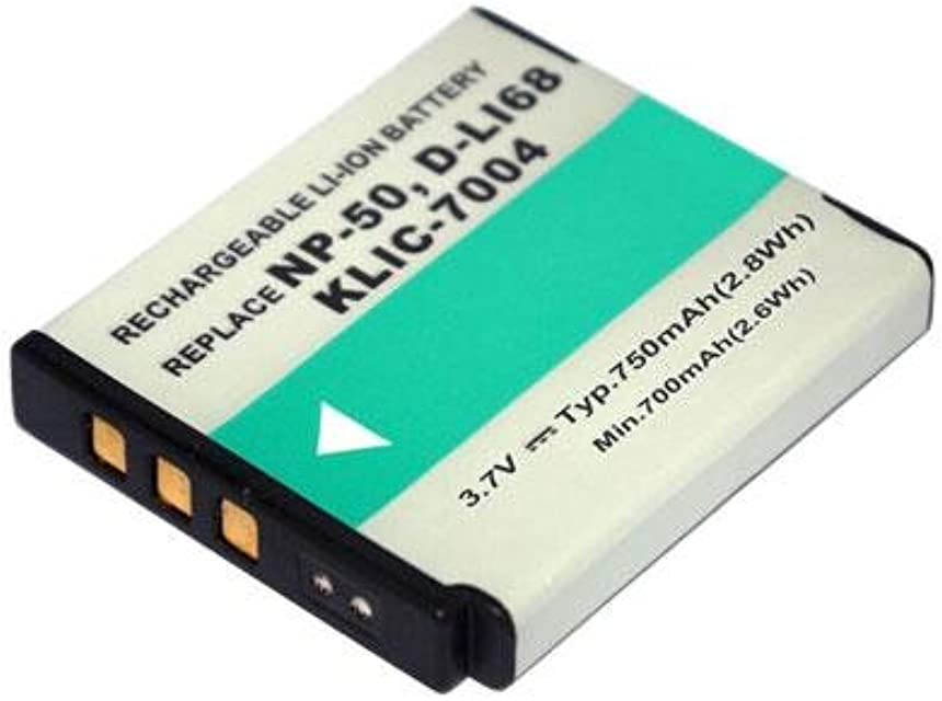 Power Smart® 360V 750mAh Li-Ion compatible con la batería de tipo D de li122 D-Li68 Repuesto para Pentax Optio A36 Optio S10 Optio S12 Optio VS20 Q Q10Cámara Digital batería