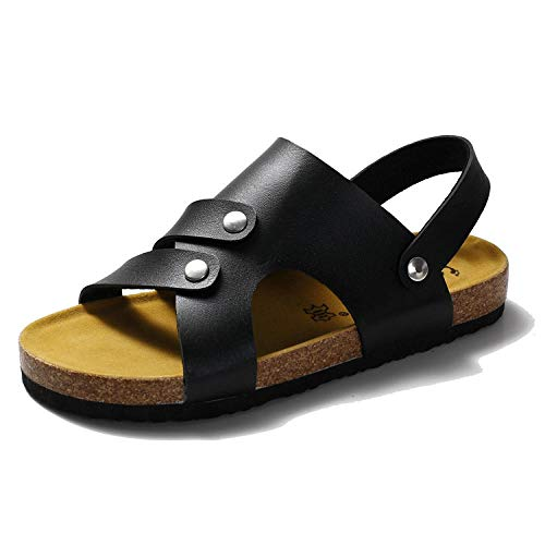 COQUI Zapatillas de Verano Case,Zapatos de Tendencia Corcho Arrastrar Zapatillas de Dos propósitos Sandalias-Negro_41