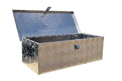 100L Arebos Coffre de Transport//Bo/îte en Aluminium Verrouillable//avec 3 Poign/ées de Transport