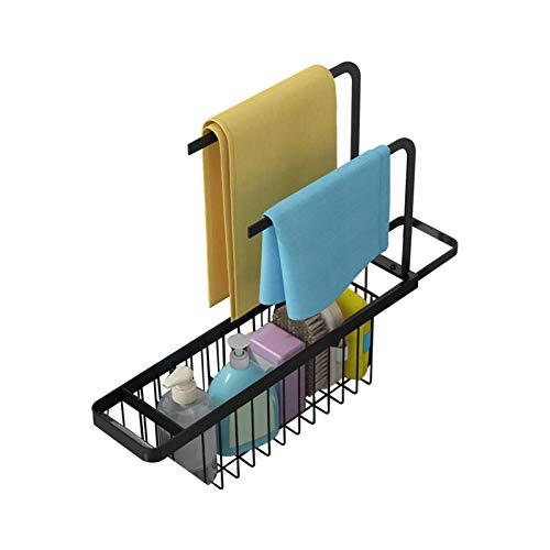 Escurridor ajustable para cocina de acero inoxidable, organizador de soporte de secado, organizador de carrito de fregadero de cocina, contador de almacenamiento
