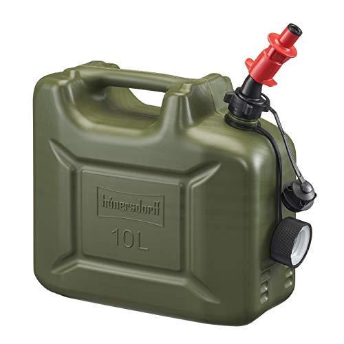 Profi Kraftstoff-Kanister 10L für Diesel, Benzin mit Sicherheits-Einfüllsystem einschließlich Füllstopp und integrierter Belüftung, Made in Germany
