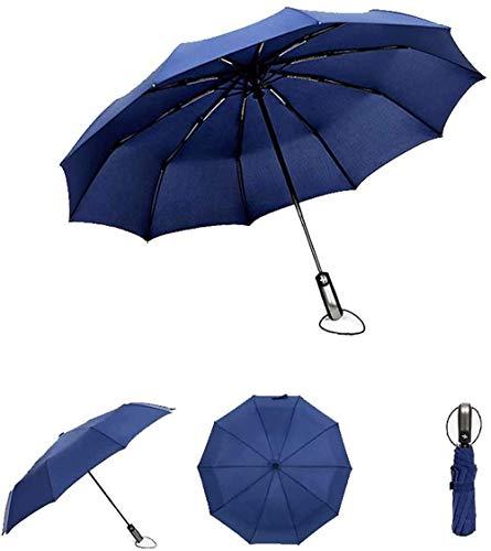Paraguas de viaje resistente al viento, ultraligero, compacto, con apertura automática, toldo reforzado, protección contra el sol y la lluvia para mujeres y hombres (color: C) - -