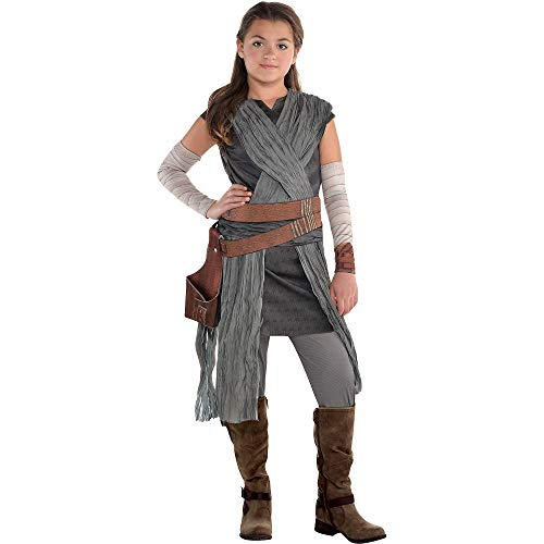 Costumes USA Star Wars 8: The Last Jedi Rey Costume for Girls, Size Small, Includes Jumpsuit with Wraps and Arm Warmers