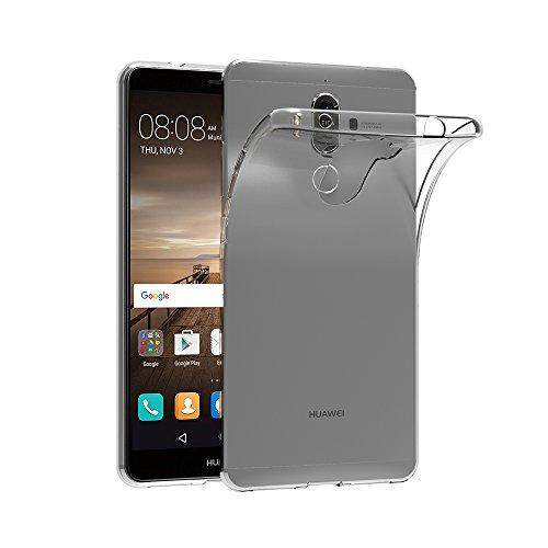 AICEK Huawei Mate 9 Hülle, Transparent Silikon Schutzhülle für Huawei Mate 9 5,9 Zoll Case Crystal Clear Durchsichtige TPU Bumper Huawei Mate 9 Handyhülle