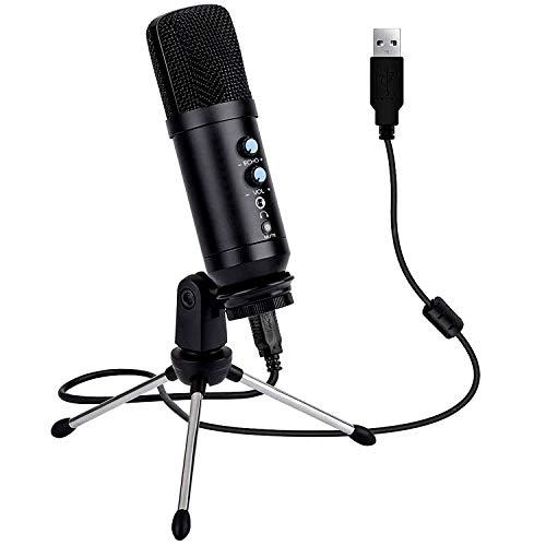 Kdely USB Mikrofon für PC Laptop, Kondensator Mikrofone mit Ständer, Professionelle Studiomikrofon mit Optimaler für Streaming, Youtube,DAW-Aufnahmen,Gaming,Podcasts,Twitch und mehr