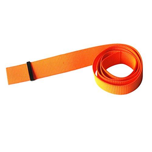 MagiDeal Sangle Ceinture De Plomb pour Plongée 150cm Avec Boucle De Ceinture- Orange