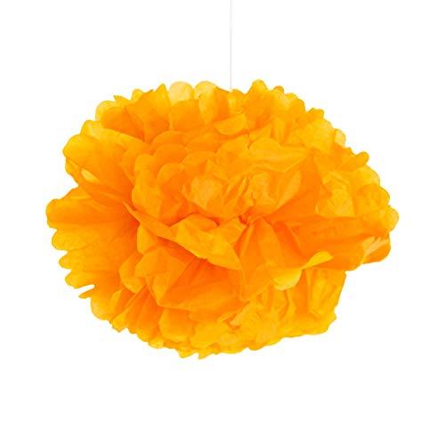 SKYLANTERN Pompons Orange 40cm x2