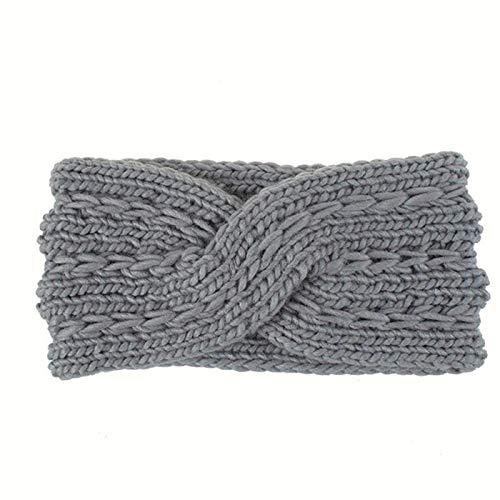 Générique Godong Bandeaux d'hiver Femmes Bandeaux tricotés par câble Hiver Cache-Oreilles épais adaptés à Un Usage Quotidien et au Sport,Gris