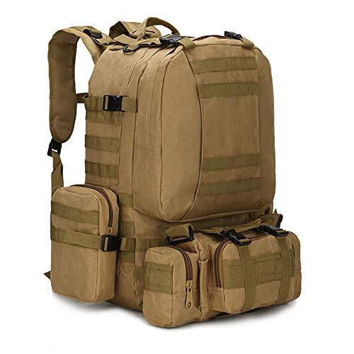 SHDT Mochila De Empaque De Asalto Táctico Militar, Molle De Ejército Back out Bag Backpacks - para Exteriores, Camping, Caza, Supervivencia, Pesca, Senderismo Y Deportes,B