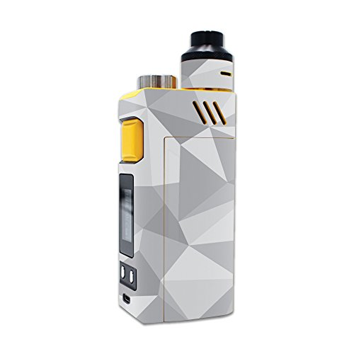 MightySkins Skin Compatible with iJoy RDTA Box 200W – Gray Polygon | Protective, Durable, and Unique Vinyl Decal wrap Cover | Easy to Apply, Remove, and Change Styles | Made in The USA