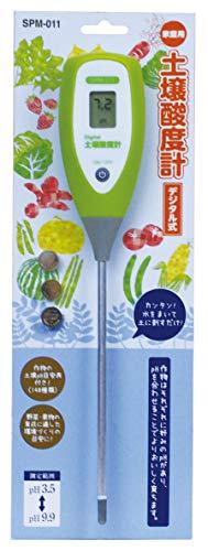 高森コーキ温度計・湿度計グリーン4.5×3×25.8cm土壌酸度計デジタル60秒測定式pH計SPM-011