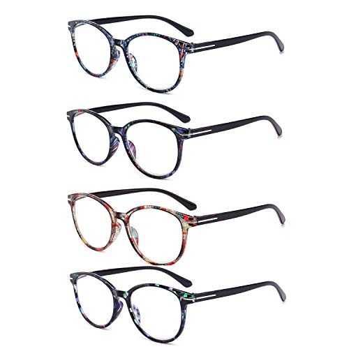 XYBW Vintage Reading Glasses_ 4 Pack Spring Hinge_ Ultra-Clear Vision Whenever & Wherever You Need It!,+3.5