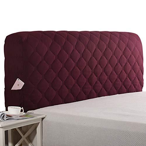 HDGZ Cubierta De La Cabecera Elástica Funda Protectora De Cabecera De Cama Cubierta A Prueba De Polvo Lavable para La Decoración del Dormitorio (Color : Wine Red, Size : 210 * 60cm)