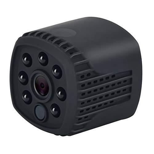 A+Xu Jie XJ Q12 Mini cámara IP WiFi HD 1080P, compatible con visión nocturna infrarroja y detección de movimiento y tarjeta TF (128 GB máx.) (negro) (color negro).