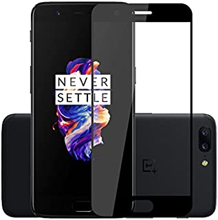 Qawafl - Oneplus 5 Full Cover Japanese Tempered Glass Screen Protector, Black