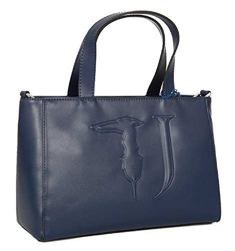 Trussardi Jeans Borsa donna mano e tracolla articolo 75B00641 T-EASY TOTE MD ECOLEATHER BAG - cm.31x20x14, U290 Blu navy - Navy blue, UNICA - ONE SIZE