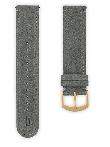 Lilienthal Berlin - Made in Germany - Wechselarmband, vegetabil gegerbtes Leder L1 (Farbe: grau / Sc