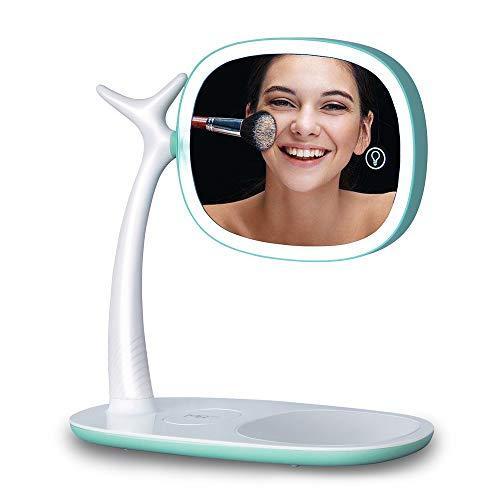 Soul led miroir lumière double miroir grossissement 360 degrés rotation réglable lumière usb charge:1