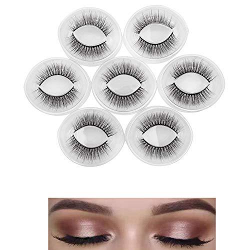 7 paires de Mink cheveux Faux cils, épais et longs Fashion Style Cils, réutilisable Artisanale pour une variété d'effets de maquillage