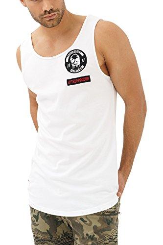 trueprodigy Casual Hombre Marca Camiseta De Tirantes con impresión Estampada Ropa Retro Vintage Rock Vestir Moda Cuello Redondo Sin Manga Slim Fit Designer Tank Top