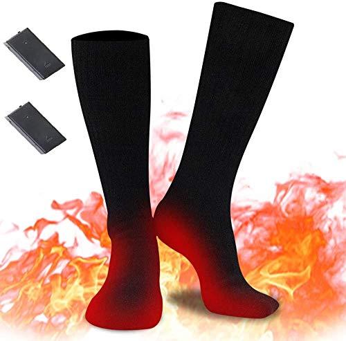 Calefacción eléctrica para hombres y mujeres, calcetines de calentamiento recargables,calcetines de algodón cálidos para el invierno para deportes al aire libre, camping, pesca, ciclismo, motociclismo