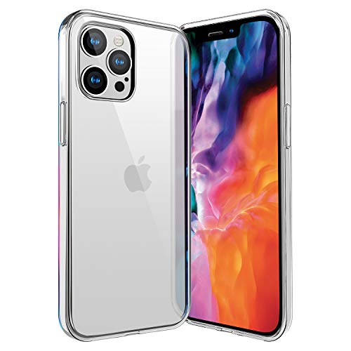 ivencase für iPhone 12 Pro/iPhone 12 Max Hülle Transparent, Crystal Silikon Schlank Transparent TPU Durchsichtige Schutzhülle Superdünnen Hülle passt iPhone 12 Pro/iPhone 12 Max 6.1