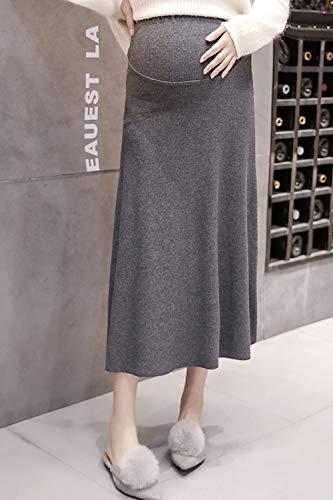 [mySpica]マタニティロングスカート美シルエット産前産後楽ちん仕事着オフィスカジュアルOLスリット妊婦服ストレッチスカート(グレー灰色)