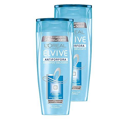 L 'Oréal Paris Elvive Anticaspa Shampoo delicada para todos los tipos de cabello (3paquetes de 2x 300ml), total: 1800ml