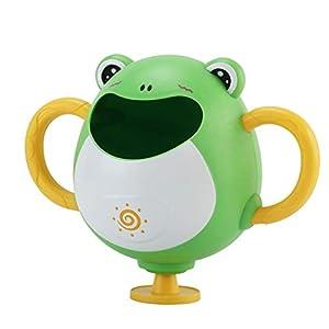 QQ GO Bebé baño de flotación Juguetes, Ducha baño del bebé, Cascada Fuente de Fugas de los niños, Juguetes de baño para bebé Animales para la Piscina, bañera,Verde