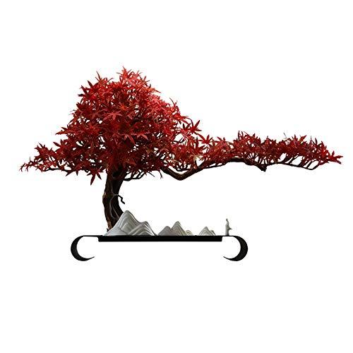 NYKK Árboles Artificiales Artificial Bonsai Pine Tree Faux Potted Plantas Casa Plantas Creative Office Sala de Estar Entrada Decoración Bonsai Crafts Regalo Plantas Falsas (Color : Red)