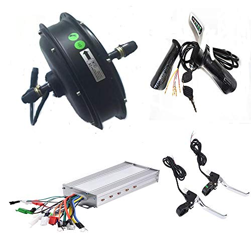 JJBOOM 48Volt 1500W brushless DC hub Motor kit Electric Bicycle Motor kit Electric Motor for Fat Bike Electric Mountain Bike kit Front Wheel Motor