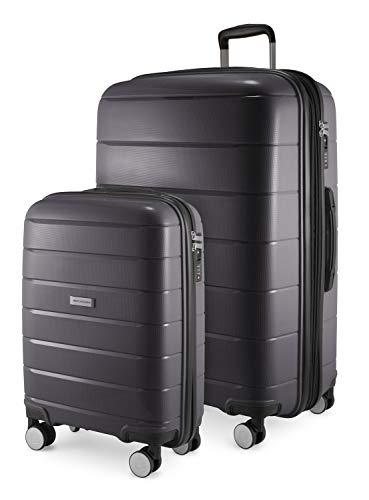HAUPTSTADTKOFFER - PRNZLBRG - 2er Kofferset Trolley-Set Rollkoffer Reisekoffer Handgepäck und großer Koffer (55/77 cm), Polypropylen-Hartschale TSA, 4...