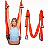 <span class='highlight'><span class='highlight'>SinceY</span></span> Aerial Yoga Swing yoga Strong trapeze yoga kit, air yoga hammock Yoga Sling/Inversion Anti-Gravity Yoga Swing Kit (Max 300KG) For Gym Home Fitness Load with Storage Bag