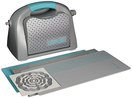 We R Memory Keepers EVOLAD Evolution Advanced Die-Cutting and Embossing Machine by | includes cutting/embossing tool, a 6 x 13-inch cutting and embossing platform, one self-healing mat and bonus nesting die