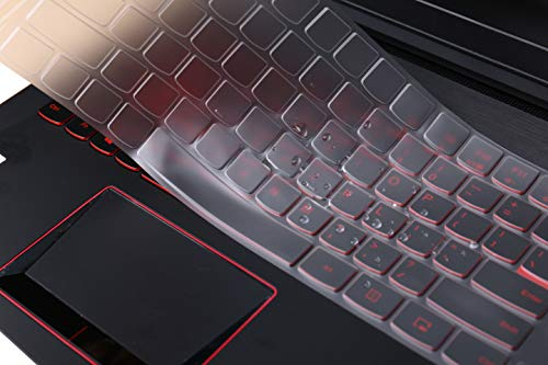 MUBUY Keyboard Cover Skin Fit Lenovo Legion 15.6 Y520 Y530 Y540 Y545 Y720 R720 Y7000 Y7000P|17.3 Legion Y730 Y740 Gaming Laptop Rainbow