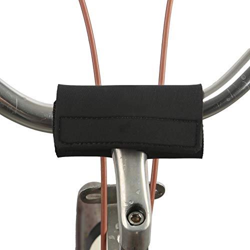 TOURBON Fahrradlenkerkopfschutz aus Neopren, Schwarz