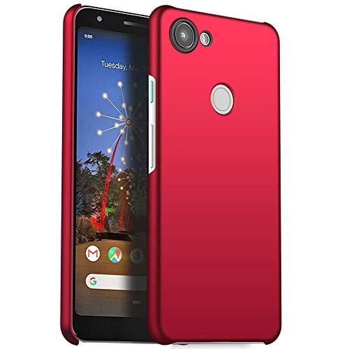 FanTing Funda para Google Pixel 3a, [Ultra-Delgado] [Ligera] Protectora Caso de Duro Cover Case para Google Pixel 3a-Rojo