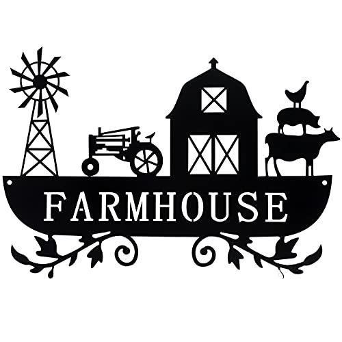 Metal Farmhouse Kitchen Decor Rustic Farm Sign Windmill Barn Tractor Animal Decor for Nursery Country Decor
