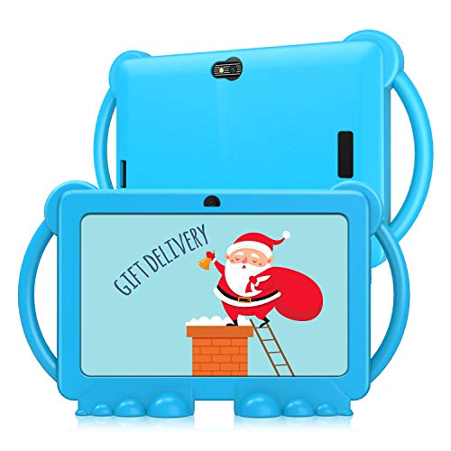 Kids Tablet 7 inch, Android 9.0 GMS Tablet PC for Kids, 2GB Ram 16GB Rom, Kids Edition Tablet with Parental Control, Dual Cameras, Wi-Fi, Blue Kid-Proof Case