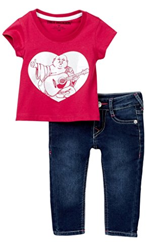 True Religion Infant Girl's Buddha Fuschia Tee Set (18 months)