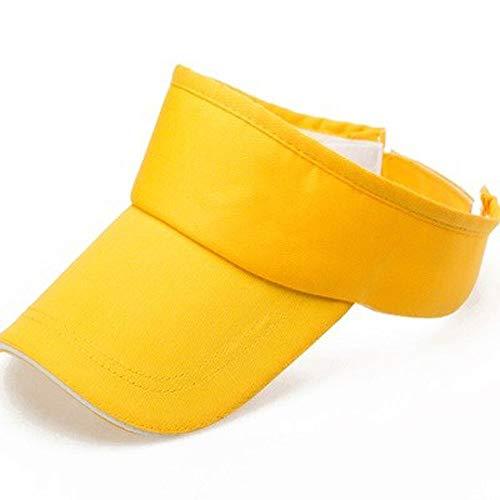 wdonddonmzi Color sólido de la Publicidad vacía Sombrero de Copa, Verano Vacío Techo Sombrero, protección UV Gorra, Verano Vacío Sombrero de Copa Sombrero Corrientes de los Deportes (Color : D)