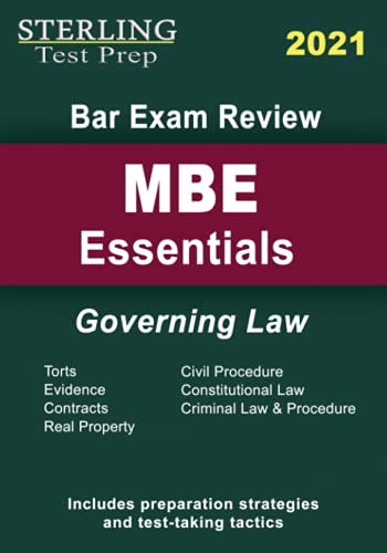 Sterling Test Prep Bar Exam Review MBE Essentials: Governing Law for Bar Exam Review