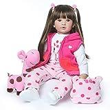 ZIYIUI Reborn Baby Doll Réincarné bébé Poupée Doux Simulation Silicone Vinyle 24 Pouces 60 cm Garçon Fille Jouet Cadeau d'anniversaire (NO.1)
