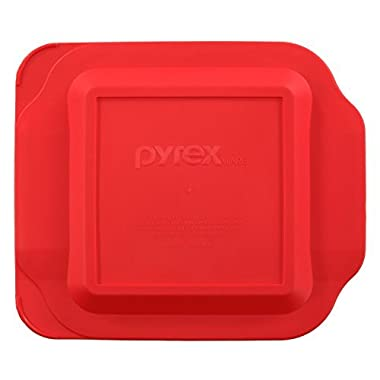 Pyrex Red Plastic Lid for 2 Quart 8-inch Square for Standard Baking Dish #222-PC